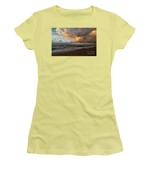 Heavy Clouds Over Baltic Sea Women's T-Shirt (Junior Cut) by Maja Sokolowska