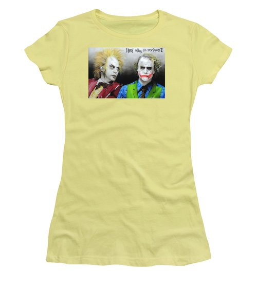 Hey, Why So Serious? Women's T-Shirt (Athletic Fit)