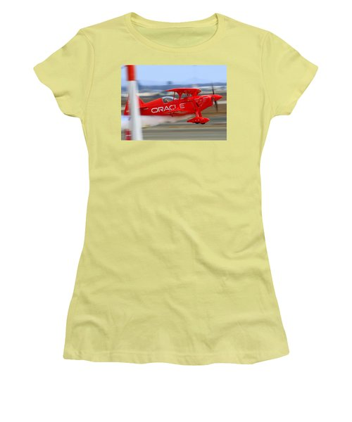 Hi Speed Low Pass By Sean Tucker At Salinas Ksns Air Show Women's T-Shirt (Athletic Fit)