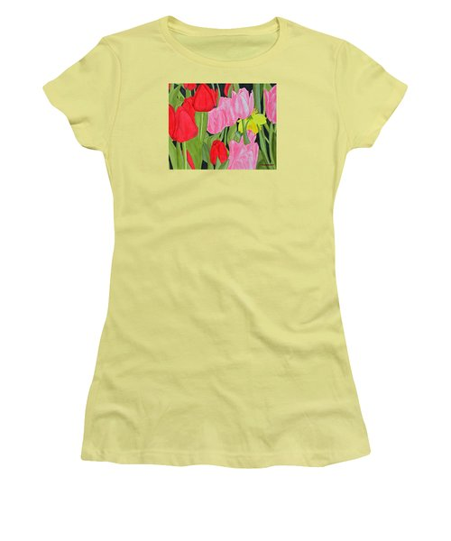 Hide 'n Seek Women's T-Shirt (Junior Cut) by Donna  Manaraze