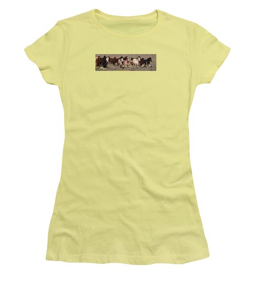 High Desert Horses Women's T-Shirt (Junior Cut) by Diane Bohna