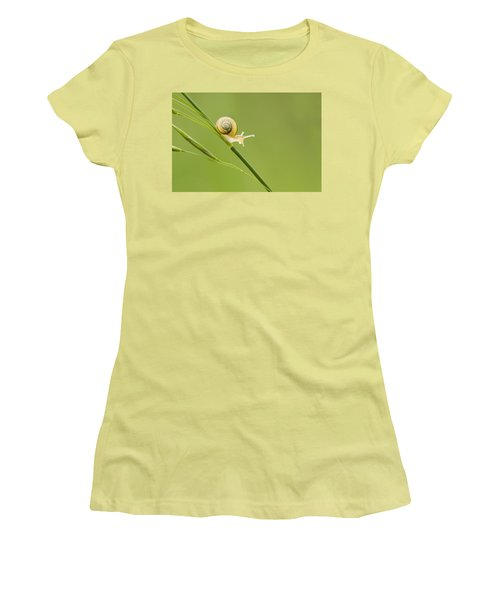 High Speed Snail Women's T-Shirt (Athletic Fit)