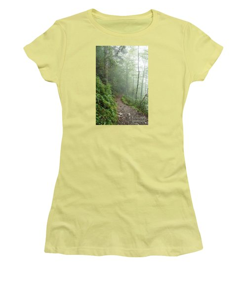 Hiking In The Clouds Women's T-Shirt (Junior Cut) by Debbie Green