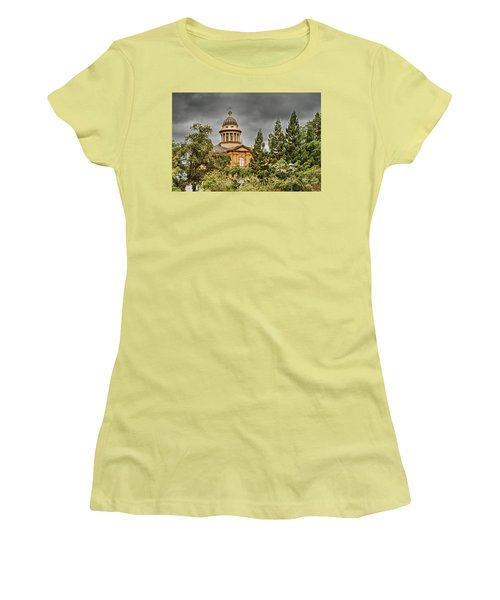 Women's T-Shirt (Junior Cut) featuring the photograph Historic Placer County Courthouse by Jim Thompson