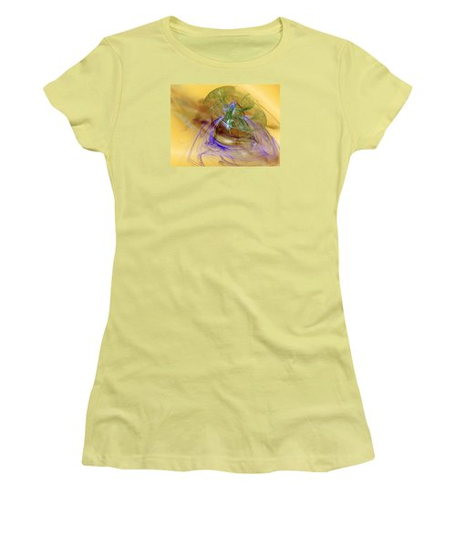 Women's T-Shirt (Junior Cut) featuring the digital art Holiday In Cambodia by Jeff Iverson