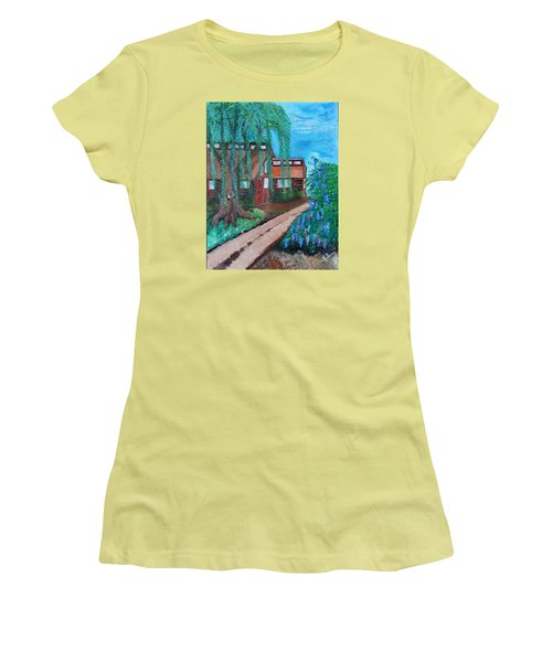 Women's T-Shirt (Junior Cut) featuring the painting Home by Cassie Sears