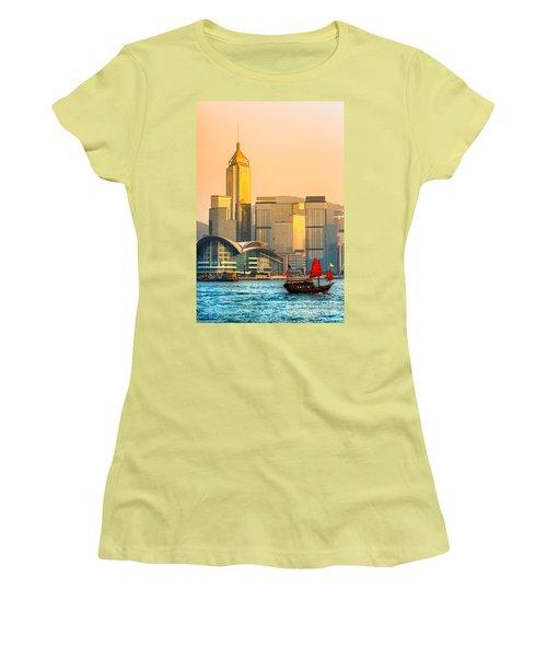 Hong Kong. Women's T-Shirt (Junior Cut) by Luciano Mortula