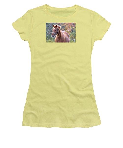 Women's T-Shirt (Junior Cut) featuring the photograph Horse Muscle by Glenn Gordon