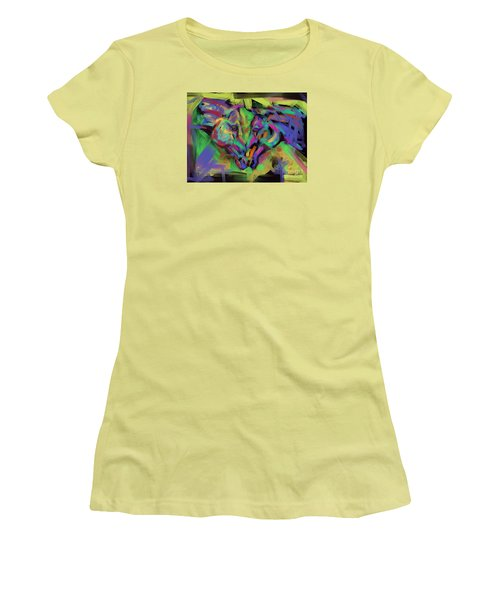 Horses Together In Colour Women's T-Shirt (Junior Cut) by Go Van Kampen