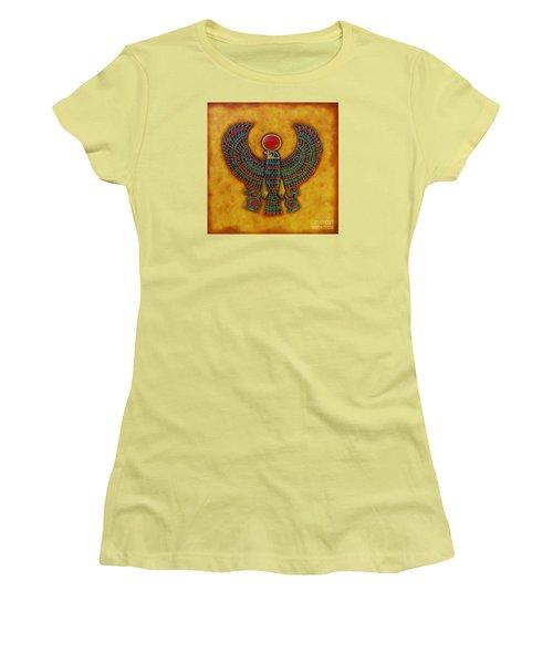 Horus Women's T-Shirt (Junior Cut) by Joseph Sonday