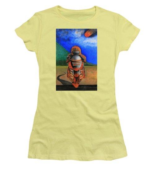 Hot Moto Women's T-Shirt (Junior Cut) by Tim Mullaney
