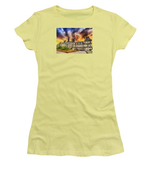 Women's T-Shirt (Junior Cut) featuring the photograph Sunset At The Hotel De Ville by Charmaine Zoe