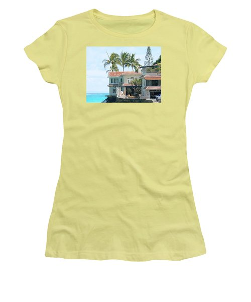 House At Land's End Women's T-Shirt (Junior Cut) by Dona  Dugay
