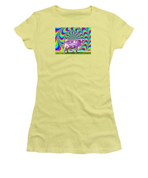 How Now Dow Cow? Women's T-Shirt (Junior Cut) by Scott Ross