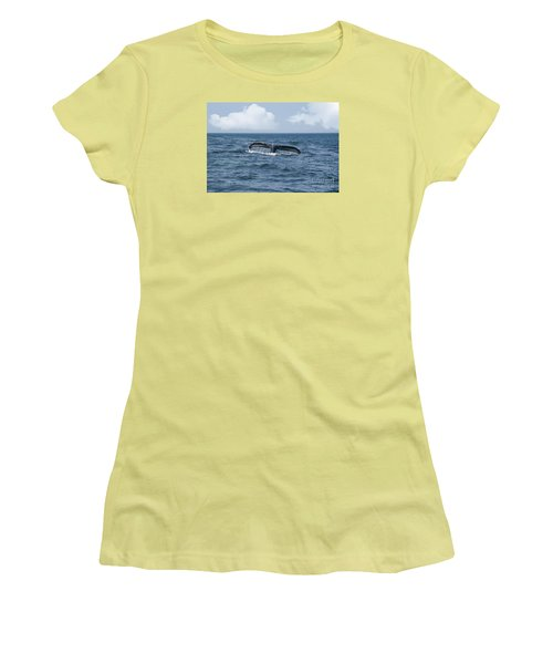 Humpback Whale Fin Women's T-Shirt (Junior Cut) by Juli Scalzi