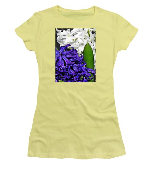 Hyacinths Women's T-Shirt (Junior Cut) by Sarah Loft
