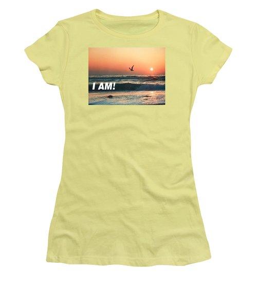 The Great I Am  Women's T-Shirt (Junior Cut) by Belinda Lee