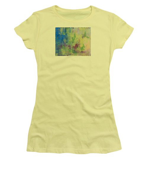 Curious Yellow Women's T-Shirt (Junior Cut) by Lee Beuther