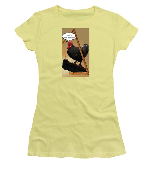 I Was Framed Women's T-Shirt (Athletic Fit)