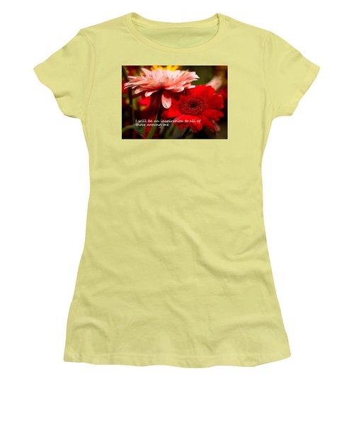 Women's T-Shirt (Junior Cut) featuring the photograph I Will Be An Inspiration by Patrice Zinck