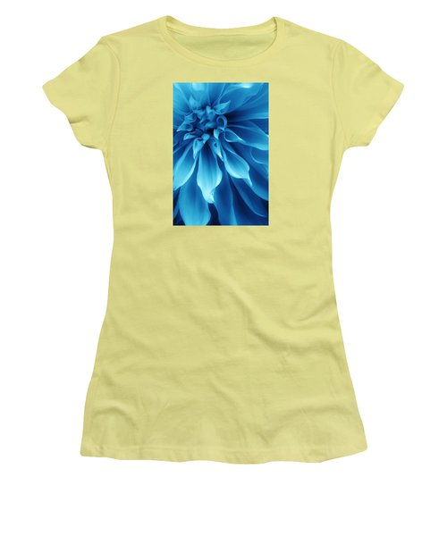 Ice Blue Dahlia Women's T-Shirt (Athletic Fit)