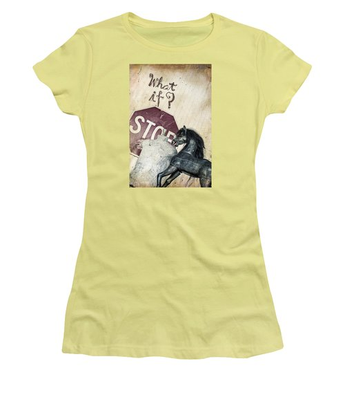 If What? Women's T-Shirt (Athletic Fit)