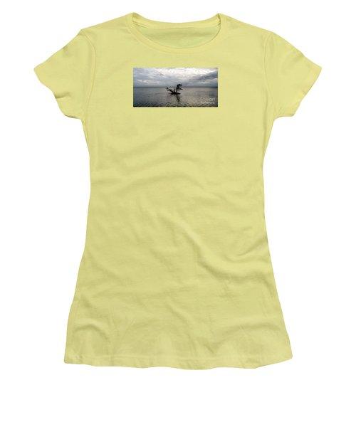 Ikebana Sunset Women's T-Shirt (Junior Cut) by Amar Sheow