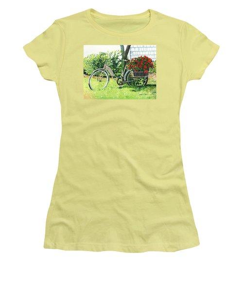 Impatiens To Ride Women's T-Shirt (Junior Cut) by LeAnne Sowa