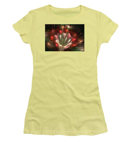 Women's T-Shirt (Junior Cut) featuring the digital art In Bloom by Svetlana Nikolova