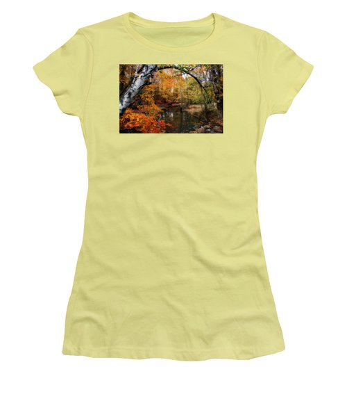 Women's T-Shirt (Junior Cut) featuring the photograph In Dreams Of Autumn by Kay Novy