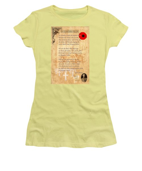 In Flanders Fields Women's T-Shirt (Athletic Fit)