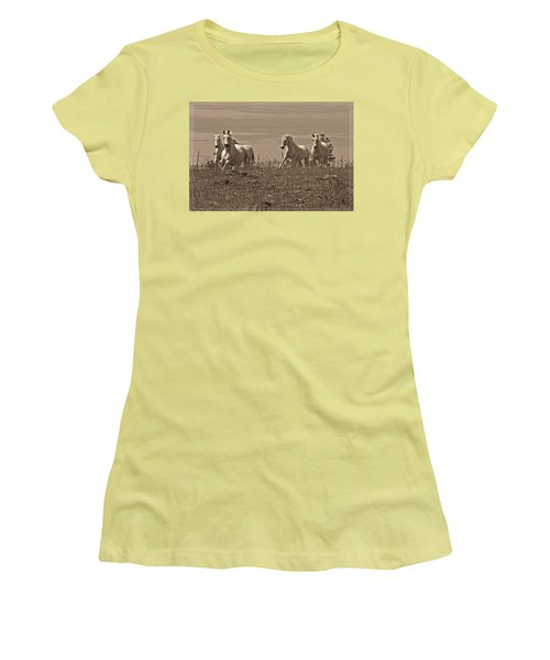 In The Field Women's T-Shirt (Junior Cut) by Wes and Dotty Weber