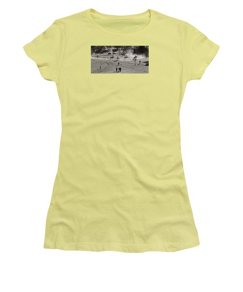 Women's T-Shirt (Junior Cut) featuring the photograph In The Warm Up by Joan Davis