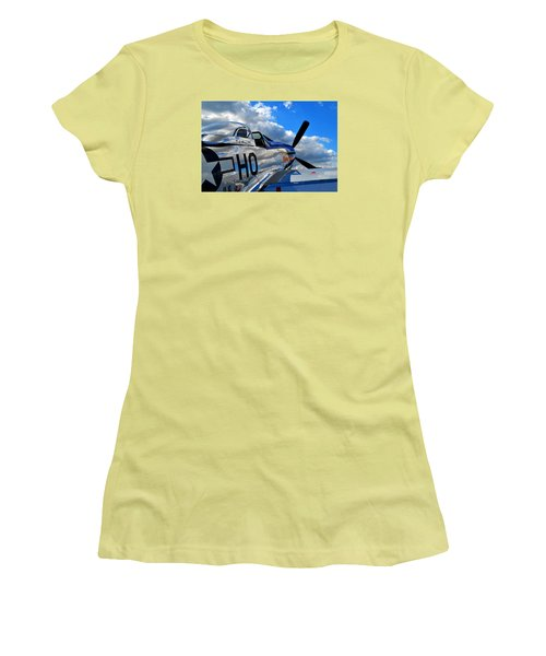 In To The Wild Blue Women's T-Shirt (Athletic Fit)