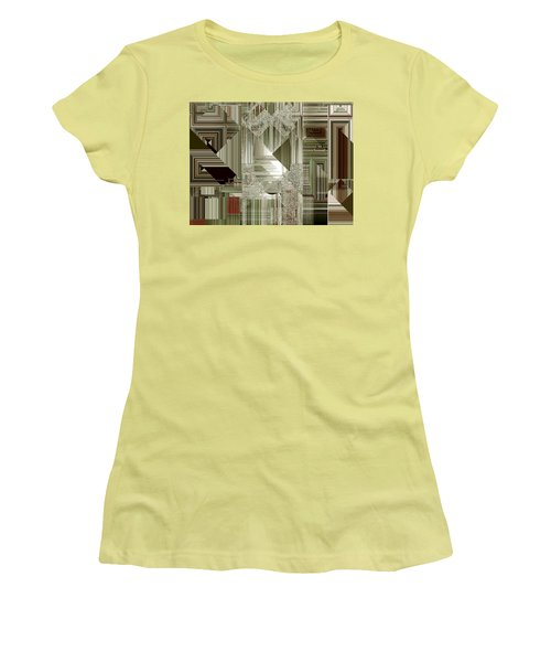 Women's T-Shirt (Junior Cut) featuring the painting Indecision I by RC deWinter