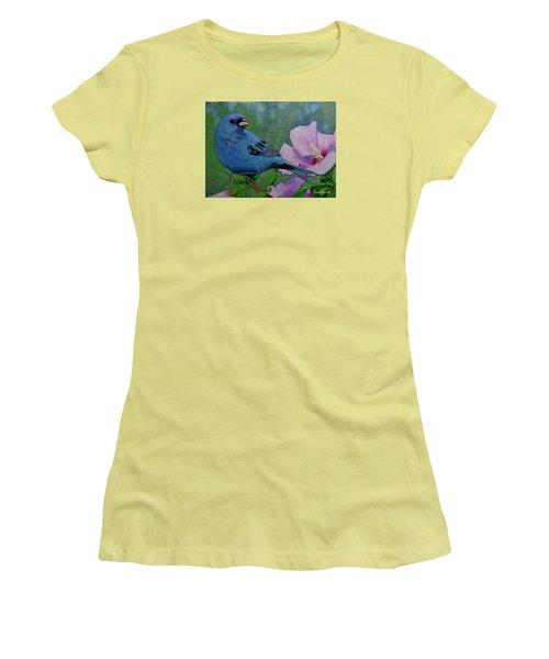 Indigo Bunting No 1 Women's T-Shirt (Junior Cut) by Ken Everett