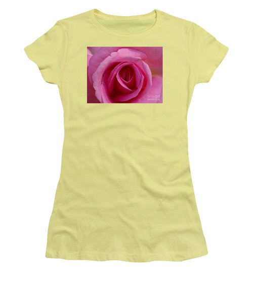 Inviting Pink Women's T-Shirt (Junior Cut) by Paul  Wilford