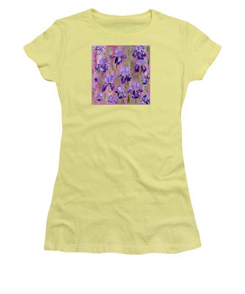 Iris Pattern Women's T-Shirt (Athletic Fit)