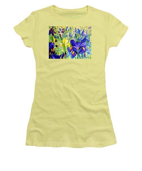 Iris Spring Women's T-Shirt (Junior Cut) by Julie Brugh Riffey