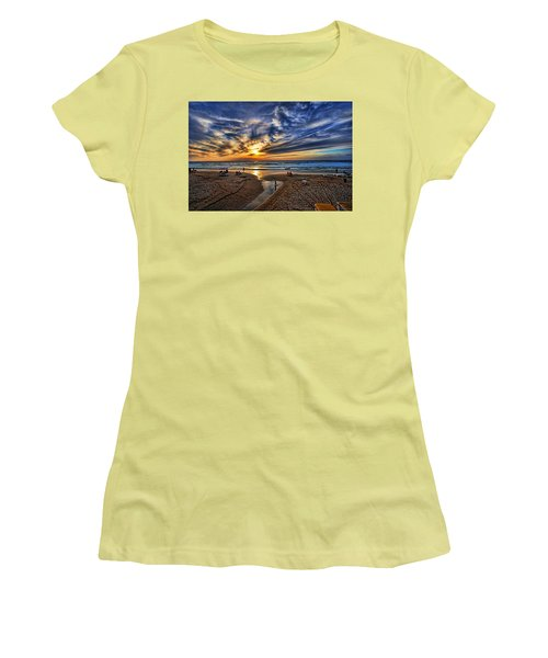 Women's T-Shirt (Athletic Fit) featuring the photograph Israel Sweet Child In Time by Ron Shoshani