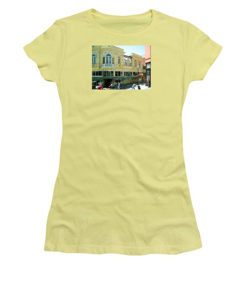 Italian Town In San Francisco Women's T-Shirt (Junior Cut) by Connie Fox