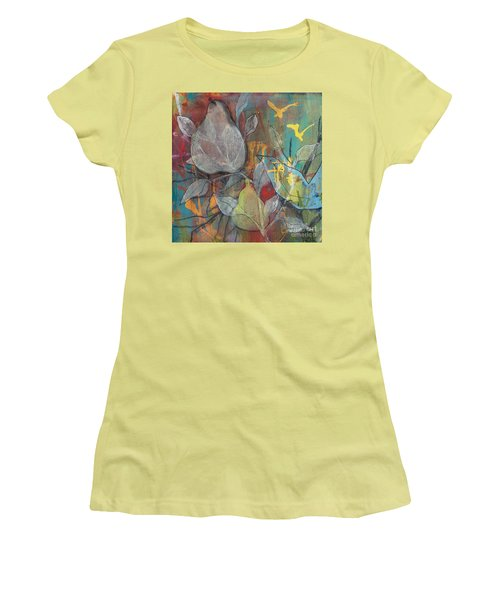 Women's T-Shirt (Junior Cut) featuring the painting It's Electric by Robin Maria Pedrero