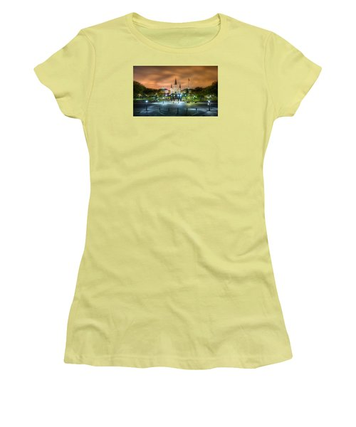 Jackson Square At Night Women's T-Shirt (Athletic Fit)
