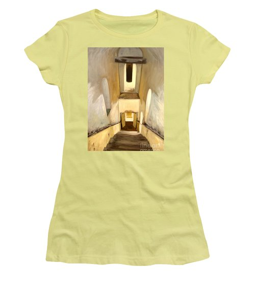Jantar Mantar Staircase Women's T-Shirt (Athletic Fit)