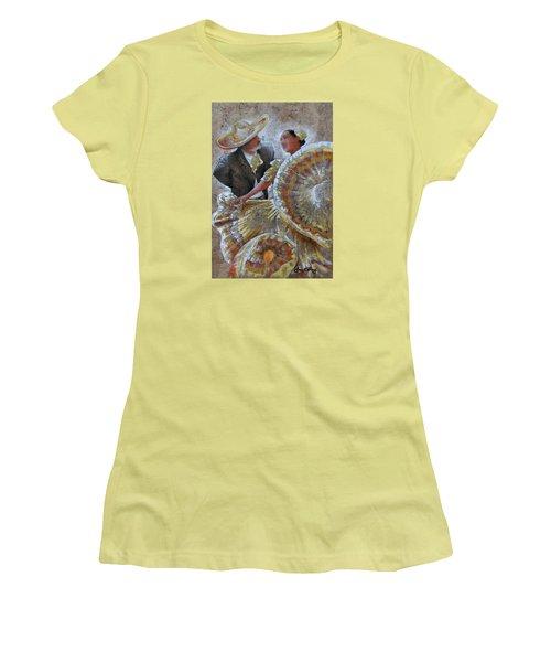 Jarabe Tapatio Dance Women's T-Shirt (Junior Cut) by J- J- Espinoza