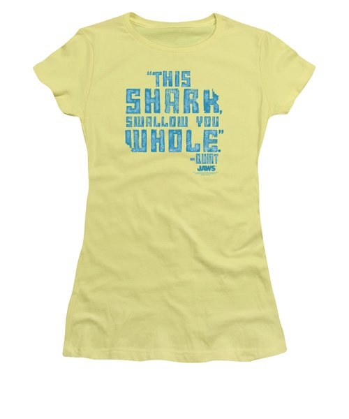 Jaws - Swallow You Whole Women's T-Shirt (Athletic Fit)