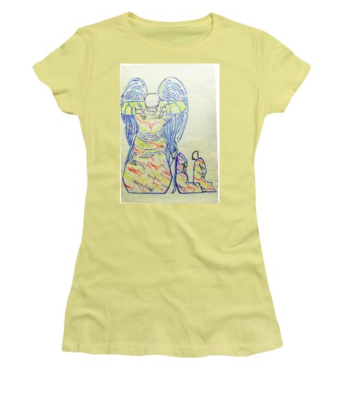 Jesus Guardian Angel Women's T-Shirt (Athletic Fit)