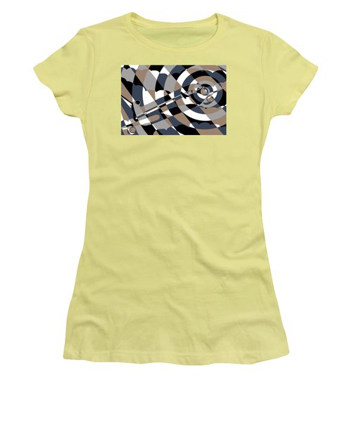Jet In The Clouds Women's T-Shirt (Athletic Fit)