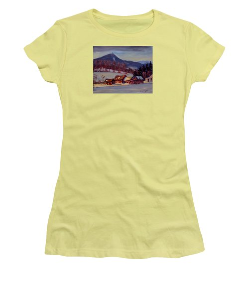 Jimmie's Place Women's T-Shirt (Junior Cut) by Len Stomski