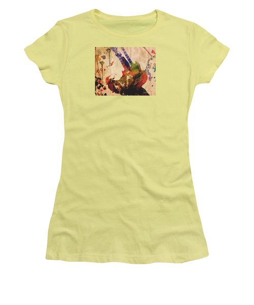 Jimmy Page - Led Zeppelin Women's T-Shirt (Junior Cut) by Ryan Rock Artist